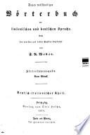 Neues vollst  ndiges W  rterbuch der italienischen und deutschen Sprache