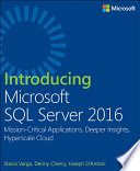 Introducing Microsoft SQL Server 2016