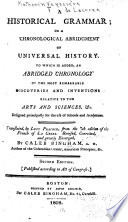 A historical grammar  or  A chronological abridgment of universal history