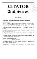 Citator, 2nd Series