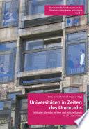 Universitäten in Zeiten des Umbruchs