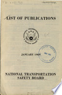 Publications Of The National Transportation Safety Board