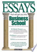 Essays That Will Get You Into Business School
