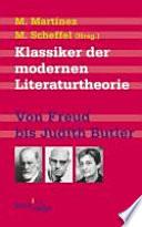 Klassiker der modernen Literaturtheorie