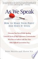As We Speak