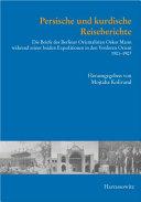 Persische Und Kurdische Reiseberichte