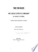 Memorie del Reale Istituto lombardo di scienze e lettere