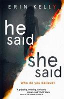 He Said/She Said Book Cover