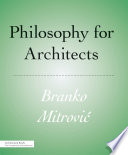 Philosophy For Architects