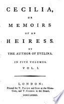 Cecilia Or Memoirs Of An Heiress