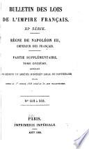 Bulletin Des Lois De L Empire Fran Ais