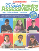 25 Quick Formative Assessments for a Differentiated Classroom  2nd Edition