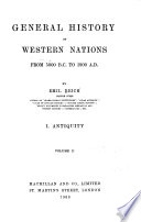 General History of Western Nations from 5000 B C  to 1900 A D