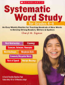 Systematic Word Study for Grades 4 6