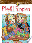Creative Haven Playful Puppies Coloring Book