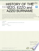 HISTORY of the IZZO  EZZO and AZZO SURNAME
