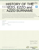 HISTORY of the IZZO, EZZO and AZZO SURNAME