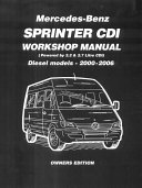 Mercedes Benz Sprinter Cdi Workshop Manual