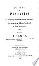 Catalogue of the Library of the German Society, Contributing for the Relief of Distressed Germans in the State of Pennsylvania