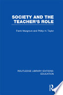 Society and the Teacher s Role  RLE Edu N