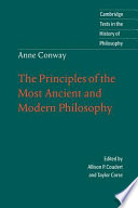 Anne Conway  The Principles of the Most Ancient and Modern Philosophy