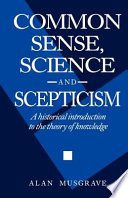 Common Sense  Science and Scepticism