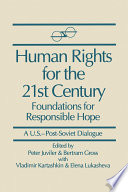 Human Rights For The 21st Century Foundation For Responsible Hope