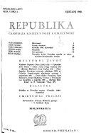 Republika: mjesecnik za knjizevnost