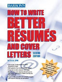 How to Write Better R  sum  s and Cover Letters