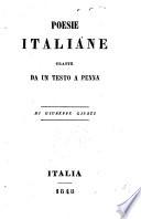 Poesie italiane, tratte da un testo a Penna