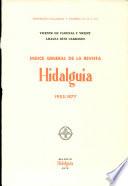 Indice general de la revista Hidalguía, 1953-1977