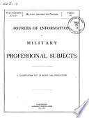 Sources Of Information On Military Professional Subjects book