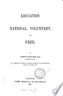 Education  national  voluntary  and free