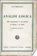 Analisi Logica Della Proposizione E Del Periodo in Italiano E in Latino