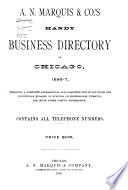 A N Marquis Co S Handy Business Directory Of Chicago