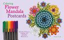 Coloring Flower Mandala Postcards