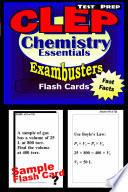 CLEP Chemistry Test Prep Review  Exambusters Flash Cards