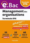 e Bac   Management des organisations Terminale STG
