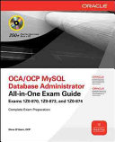 OCP MySQL 5 6 Database Administrator All in One Exam Guide  Exam 1Z0 883