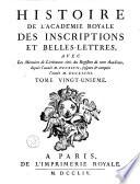 M  moires de litt  rature tir  s des registres de l Acad  mie royale des inscriptions et belles lettres