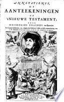 Annotationes  of aanteekeningen op  t Nieuwe Testament
