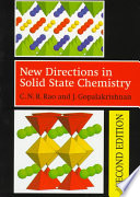 New Directions In Solid State Chemistry 2nd Edition Edition En Anglais book