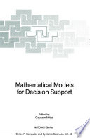 Mathematical Models For Decision Support
