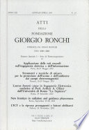 Atti della Fondazione Giorgio Ronchi