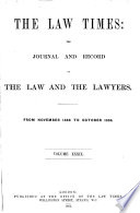 Law Times  the Journal and Record of the Law and Lawyers