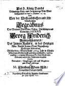 Cupressus Funerea, Memoriae Ergo ... Domino Georgio Friderico Gumpelzheimero ... Ipso die Exequiarum ... a Fautoribus & Amicis moerentibus erecta