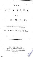 The Odyssey of Homer. Translated from the Greek by Alexander Pope