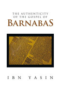 download ebook the authenticity of the gospel of barnabas pdf epub