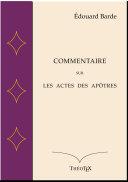 Commentaire sur le livre des Actes des apôtres Book