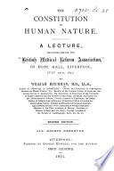 The Constitution of Human Nature  A Lecture     Second Edition